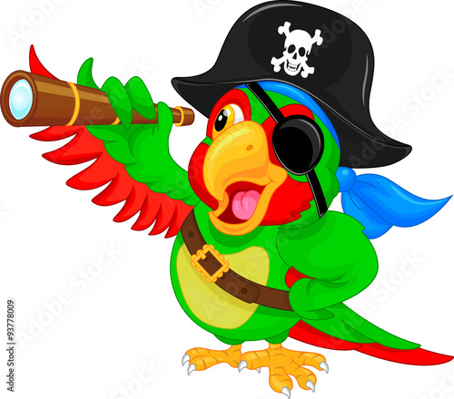 Valokuva  pirate parrot cartoon