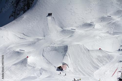 Fotografie, Obraz  Snow park in mountain ski resort