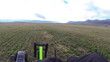 Ultralight aircraft takeoff farm field aerial shot HD 0186
