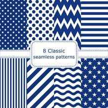Set Of 8 Classic Seamless Patt...