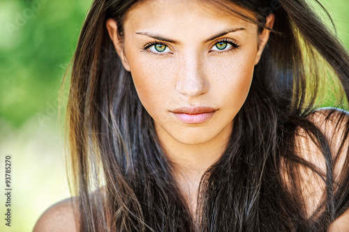 Fotografia, Obraz  Close up of young beautiful woman
