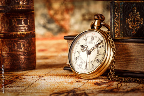 Fotografie, Obraz  Vintage pocket watch
