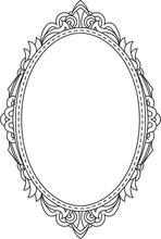 Antique, Vintage, Oval Frame W...