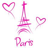 Fototapeta Fototapety Paryż - Ilustracja Wieży Eiffla