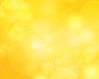 canvas print picture - Yellow bokeh abstract light background