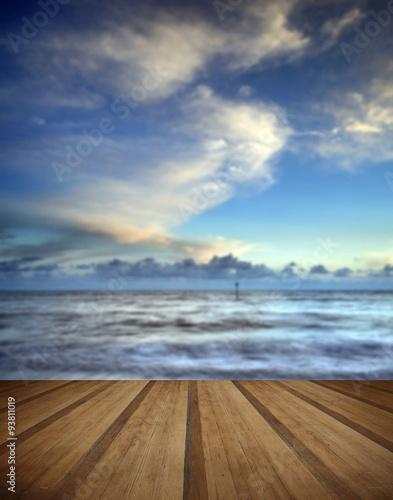 Foto op Plexiglas Caraïben Beautiful long exposure vibrant concept image of ocean at sunset