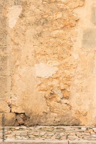 Poster Vieux mur texturé sale Grunge Hintergrund Textur Alte Mauer