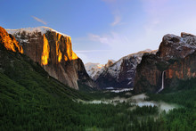 Sunrise From Tunnel View At Yo...