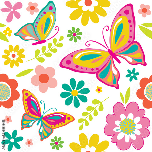 Spring Pattern With Cute Butterflies Suitable For Gift
