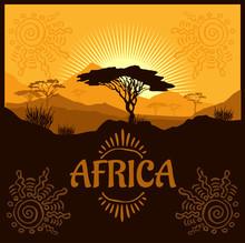 Africa - Vector Poster.