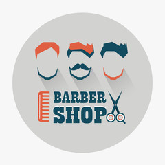 Fototapeta Do fryzjera Barber shop emblem.