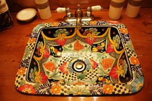 Mexican Washbasin Hand Painted