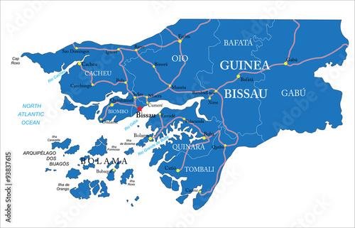 Photo Guinea Bissau map
