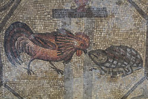 4th century Roman floor mosaics in the Romanesque-Gothic Basilica of Aquileia Canvas Print