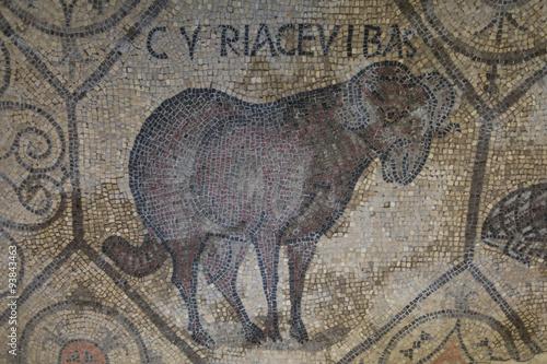 Photo 4th century Roman floor mosaics in the Romanesque-Gothic Basilica of Aquileia