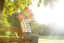 Playful Grandfather Spending T...