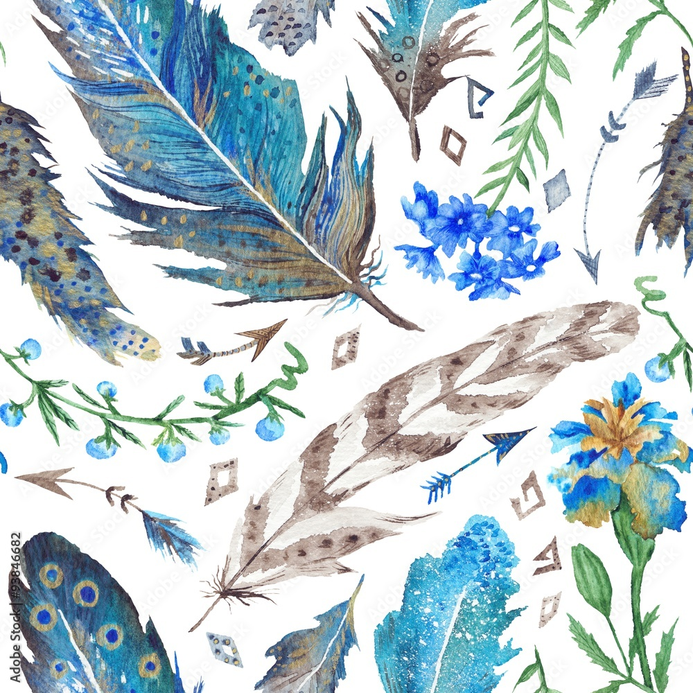 Boho Watercolor Pattern