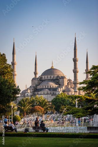 Aluminium Prints Turkey Istanbul, Blaue Moschee