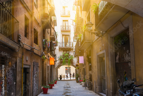 old-street-in-barcelona-spain