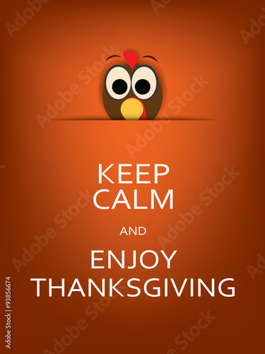 Thanksgiving card design with traditional turkey. Eps10 vector