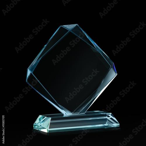 Fotografía  Cristal blanco para premio en negro