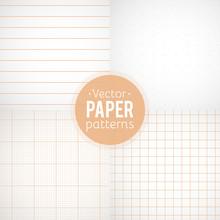 Vector Set Of Paper Patterns. ...