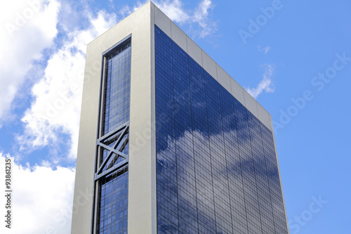 Modern building in New York in a clear day