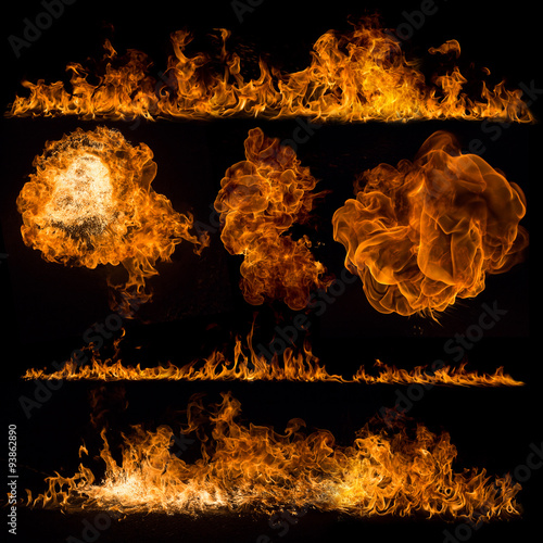 Canvas Prints Fire / Flame Fire flames collection