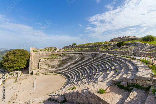 Fototapeta Segesta Temple Amphitheatre Sicily Italy
