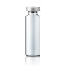 Glass Medical Ampoule With Aluminium Cap.