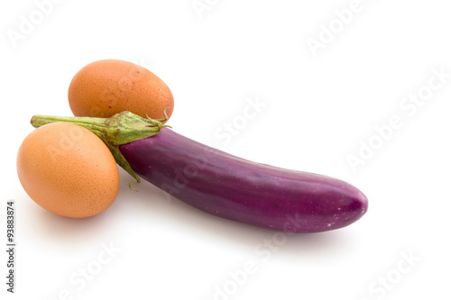 Fotografia, Obraz  Eggplant shows erectile dysfunction