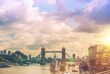 Fototapeta Big Ben - London River Thames Panorama