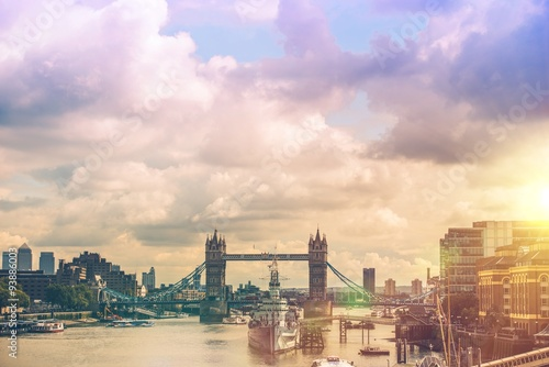 Photographie  London River Thames Panorama