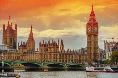 Fotografie, Obraz  The Palace of Westminster