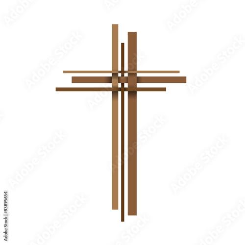 Valokuvatapetti Vector abstract Christ crucifix; three crosses
