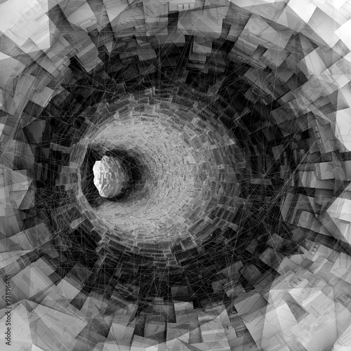 Turning digital tunnel interior high-tech structures - 93896465