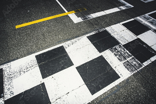Photo sur Aluminium Motorise Start und Ziel