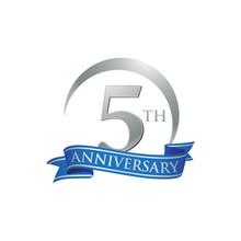5th Anniversary Ring Logo Blue...