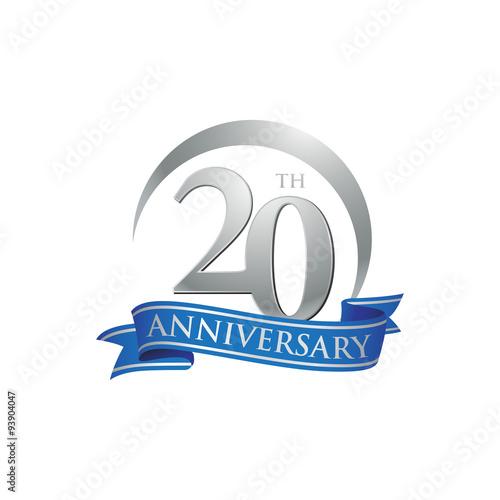 Fotografia  20th anniversary ring logo blue ribbon