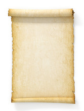 Scroll Of Old Yellowed Paper O...
