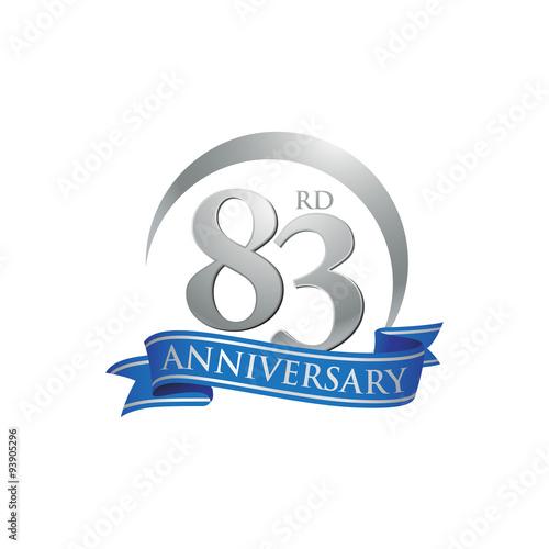 Fotografia  83rd anniversary ring logo blue ribbon