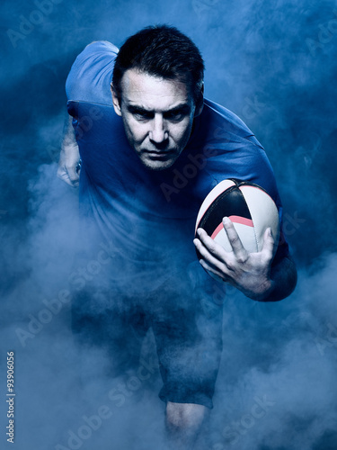 Fotografie, Obraz man rugby player  isolated