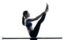 Woman Pilates Exercises Fitnes...