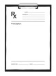 Leinwandbild Motiv Blank prescription form, isolated on white background.