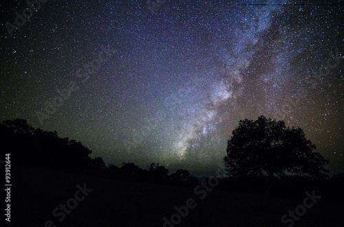 Fotografering  Wide field long exposure photo of the Milky Way