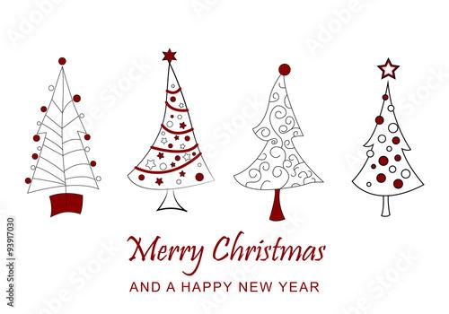 Fotografía  Merry Christmas - Weihnachtskarte