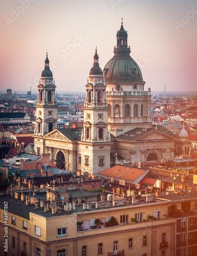 In de dag Madrid view on Cupola of Basilica of saint Istvan
