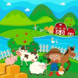 Die Tiere auf einer gastfreundlichen Farm
