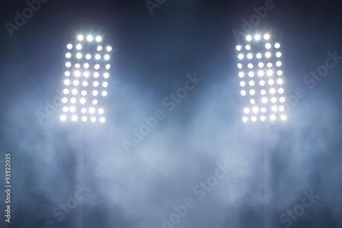 Fotografie, Obraz  stadium lights and smoke