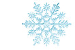 canvas print picture - snowflake isolated